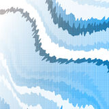 Futuristic background with angular forms and white tails. Royalty Free Stock Images