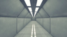 Futuristic background architecture corridor. Stock Photo