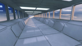 Futuristic background architecture corridor. Stock Image