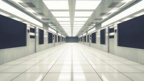 Futuristic background architecture corridor. Royalty Free Stock Photography