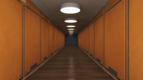 Futuristic background architecture corridor. Stock Images