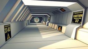 Futuristic background architecture corridor. Royalty Free Stock Photo