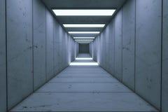 Futuristic background architecture corridor. Stock Photos