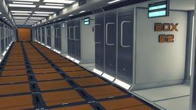 Futuristic background architecture corridor. Stock Photography