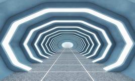 Futuristic background architecture corridor. Stock Photo