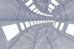 Futuristic background architecture corridor. Royalty Free Stock Photos