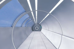 Futuristic background architecture corridor. Royalty Free Stock Images
