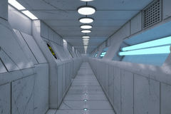 Futuristic background architecture corridor. Royalty Free Stock Photos