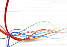 Futuristic background - colorful cable lines Royalty Free Stock Photography