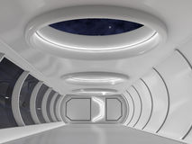 Futuristic. Background corridor science fiction 3d render royalty free illustration