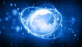 Global business network. Futuristic background of Global business network, internet, Globalization concept Stock Photos