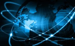 Global business network. Futuristic background of Global business network, internet, Globalization concept Royalty Free Stock Image
