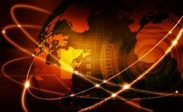 Global business network. Futuristic background of Global business network, internet, Globalization concept Royalty Free Stock Photography