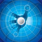 Futuristic background Stock Images