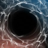 Futuristic Background. Lightning vortex background. 3D render illustrator. Abstract Tunnel. Futuristic Style. Turning. Tube. Perspective Backdrop. Frame with Stock Photos