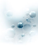 Futuristic background with molecules blue Stock Photos