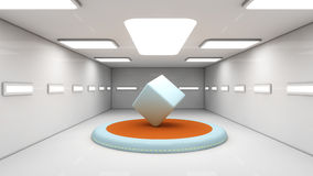 Futuristic background for movie Royalty Free Stock Image