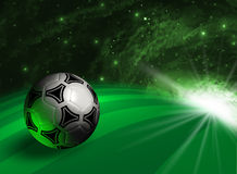 Futuristic background with soccer ball Stock Photography