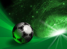 Futuristic background with soccer ball Royalty Free Stock Images