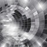 Futuristic background, virtual tunnel. Retro styled. Stock Photos