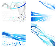 Futuristic backgrounds collection Royalty Free Stock Photography