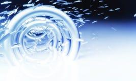 futuristic bakgrund 3d Royaltyfria Bilder