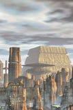 futuristic bakgrundsstad