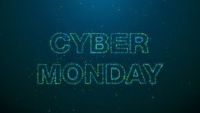 Futuristic banner for cyber monday event Stock Illustration