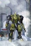 Futuristic battle robot Royalty Free Stock Image