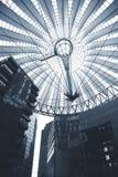 Futuristic Berlin. Corporate buildings Potsdamer Platz - Berlin, Germany - Duotone Stock Photo