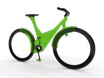 Futuristic bicycle on white backgroun Royalty Free Stock Images