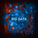 Futuristic Big data visualization. Cybernetic infographic. Information aesthetic design. Visual data complexity. Complex. Data threads graphic. Social network Royalty Free Stock Photo