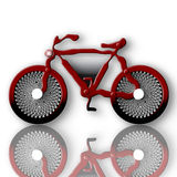 Futuristic Bike. Red futuristic bike over white background with reflection 2d illustration Stock Photography