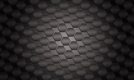 Futuristic black Background. (polygon hexagon Royalty Free Stock Images