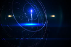 Futuristic black background with circles Royalty Free Stock Photos