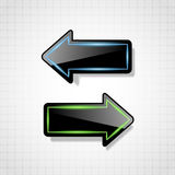 Futuristic black glossy arrows Royalty Free Stock Photos
