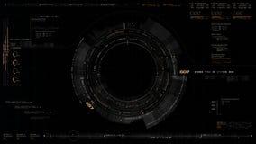 Futuristic Black Hole Simulation royalty free illustration