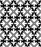 Futuristic black and white extraordinary geometric seamless patt Royalty Free Stock Image