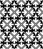 Futuristic black and white extraordinary geometric seamless patt Royalty Free Stock Image