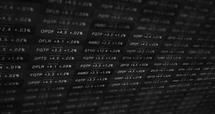 Futuristic black and white stock market ticker in a good economy stock illustration