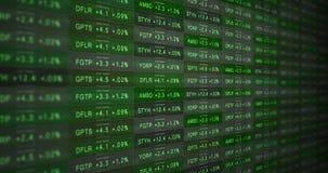 Futuristic black and white stock market ticker in a good economy alt vector illustration