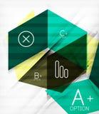 Futuristic blocks geometric abstract background Stock Image