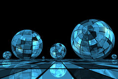 Futuristic blue balls Royalty Free Stock Photo