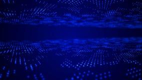 Futuristic blue dots background. Science background. Big data visualization. 3d rendering stock illustration