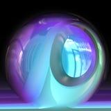 Futuristic blue fishbowl Stock Photography