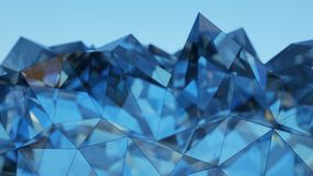 Futuristic blue glass construction 3D rendering with DOF. Futuristic blue glass construction. Abstract background. 3D rendering with DOF Royalty Free Stock Image