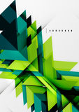 Futuristic blue and green color shapes Stock Photography