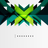 Futuristic blue and green color shapes Stock Photo