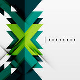 Futuristic blue and green color shapes Stock Images