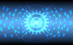 Futuristic blue grid and network background Stock Image